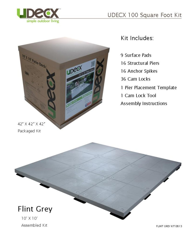 100 SQFT KIT - FLINT GREY
