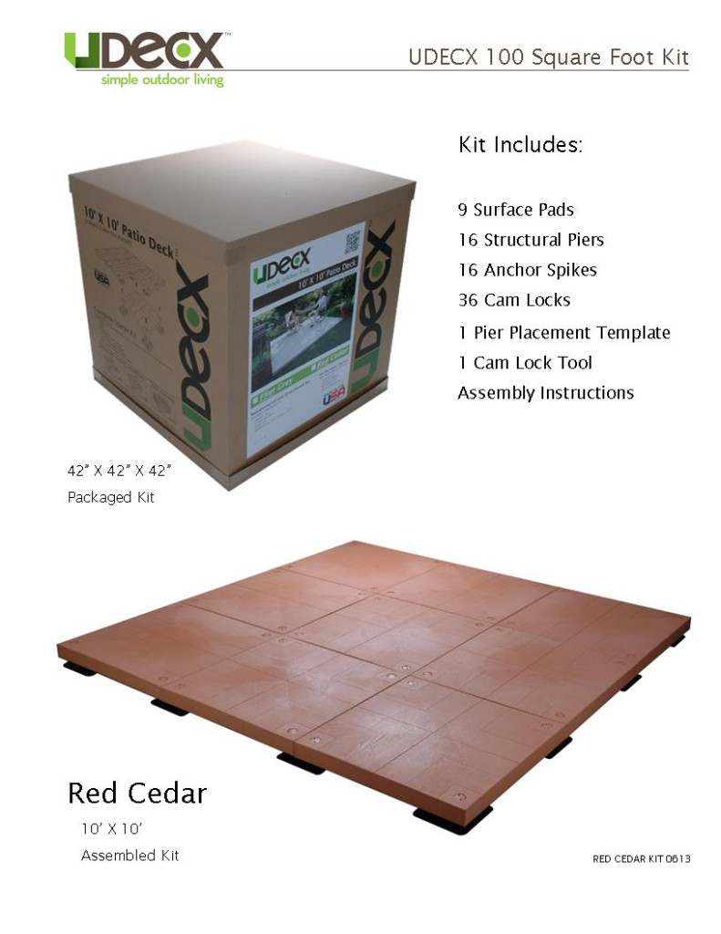 100 SQFT KIT - RED CEDAR