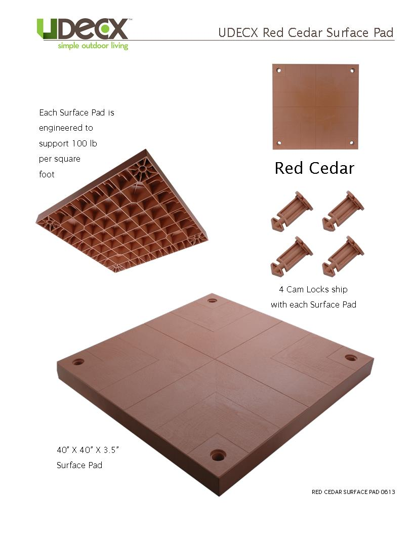 RED CEDAR SURFACE PAD
